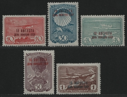 Russia / Sowjetunion 1939 - Mi-Nr. 709-713 ** - MNH - Luftfahrt (II) - Nuevos