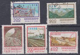 Taiwan N° 1087 / 91 O Série Courante, Réalisations Modernes, La Série Des 5 Valeurs Oblitérées, TB - 1945-... République De Chine