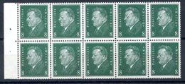 Deutsches Reich, German Reich, Third Reich, 1928, Ebert, Booklet Pane, MLH, Michel H-Blatt 58 - Germany
