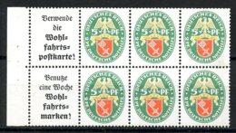 Deutsches Reich, German Reich, Third Reich, 1929, Nothilfe, Booklet Pane, MLH, Michel H-Blatt 66 - Germany