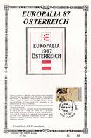 Feuillet Tirage Limité 400 Exemplaires 2247 Europalia österreich Autrriche Fleurus - Hojas
