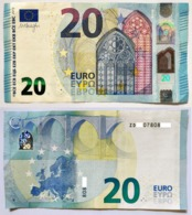 20 Euro Banknote Z002 ZD RRRRR - EURO