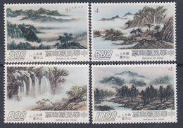 Taiwan N° 1111 / 14 XX Paysages, Peintures De Madame Tchang Kaï-Chek, Les 4 Valeurs Sans Charnière, TB - 1945-... Republic Of China
