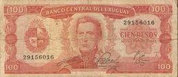 Billet - URUGUAY - 100 Pesos - Série A - Uruguay