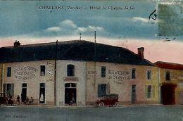 CHALLANS -   Hôtel Du Chemin De Fer - écrite - Timbre Décollé Trace) - Challans