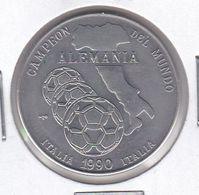 MONEDA DE CUBA DE 1 PESO DEL AÑO 1990 ALEMANIA CAMPEON DEL MUNDO FUTBOL - Kuba