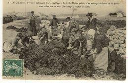 Le Croisic Fermiers Fabricant Leur Chauffage Bouses De Vache Paille 1909 - Le Croisic