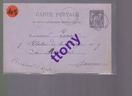 2  Entier Postal 15 C Et  10 C    Type Sage    Destination Amiens    Année 1888   Et 1884 - Enteros Postales