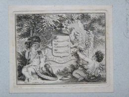 Ex-libris Héraldique Illustré XVIIIème - Pays Bas - WAAKT-HUYBERT (Zélande) - Ex Libris