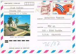 Kuba Luftpostbrief Gelaufen - Trinidad Im Zudruck - Weltkulturerbe Der UNESCO - Cartas