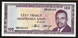 "100 Francs  ""Burundi""  01 05 93  UNC    Ble29 - Burundi"