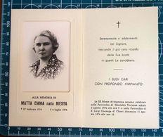 Necrologio Luttino - MATTA EMMA Nata BIESTA (nascita 1914 Morte 1974 ) Chieri Torino - Décès