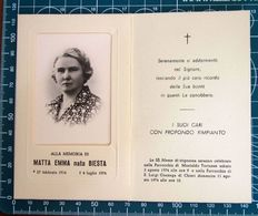 Necrologio Luttino - MATTA EMMA Nata BIESTA (nascita 1914 Morte 1974 ) Chieri Torino - Obituary Notices
