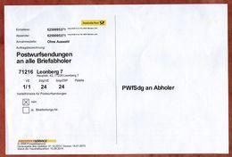 Auftrag, Postwurfsendungen Briefabholer, Leonberg 7, 2014 (95276) - BRD