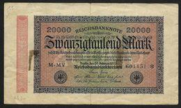 """20 000  Mark """" Allemagne""""  20 Septembre 1923   Bc 6 - [ 3] 1918-1933 : Repubblica  Di Weimar"""