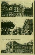 NAPOLI - PIAZZA TRIESTE E TRENTO + VIA POSILLIPO + PALAZZO DONN'ANNA - 1930s ( BG4560) - Napoli
