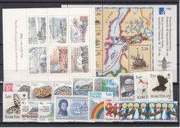 Finland 1986 - Full Year MNH ** - Ganze Jahrgänge
