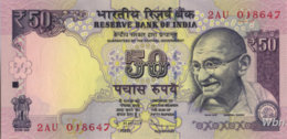 India 50 Rupees (P104)  Letter R 2012 -UNC- - India