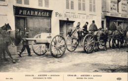 GUERRE 1914- 1918  WW1  AMIENS  Artillerie Traversant La Ville   ... - Guerre 1914-18