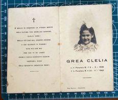 Necrologio Luttino - Bambina GREA CLELIA (nascita 1936 Morte 1942 ) Monastero Bormida Asti - Obituary Notices