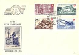[905972]B/TB//-Suisse 1949 - Fête Nationale - FDC