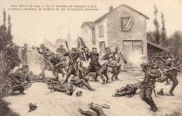 GUERRE 1914- 1918  WW1  Le 10° Bataillon De Chasseurs à Pied S'empare à St Blaise Du Drapeau Du 132è Infanterie Allemand - Guerre 1914-18