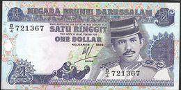 "1 Dollar    ""BRUNEI""        1989      UNC    Ro 6 - Brunei"