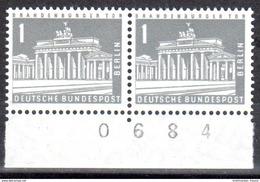 Berlin 1956 Mi. 140 ** Paar Mit Bogenzähler Postfrisch (pü1016) - [5] Berlin