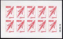 POLYNESIE. CARNET A USAGE COURANT Emblème Postal Rouge CD 06 09 16 Scan Recto Verso - Carnets