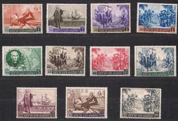 Saint-Marin San Marino 1952 Yvertn° 346-356 (*) MLH Cote 50 € Christoph Colomb Columbus - Saint-Marin
