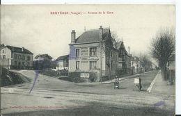 BRUYERES - Avenue De La Gare ( Petite Tache D'encre ) - Bruyeres