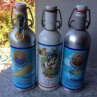 3 BOTTIGLIE IN ALLUMINIO  VUOTE DI BIRRA  BIERE BEER / RARE - Cerveza