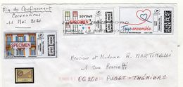 France;Covid 19,coronavirus,lettre Envoyée. A Voir - 2010-... Abgebildete Automatenmarke