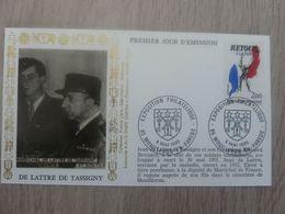 JEAN DE-LATTRE-DE-TASSIGNY (1889-1952) Général - Débarquement - Libération - Mouilleron - Editions AMIS - Année 1985 - - Oblitérés