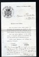 78, Meulan, 11 Decembre 1885, Invitation A Entete De La Societe De Tir - Altri