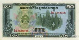 Cambodia 10 Riels (P34) 1987 -UNC- - Cambogia