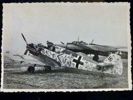 GERMAN Photo WW2 WWII ARCHIVE : MESSERSCHMITT Bf-109 Camo & Bf-110 _ LUFTWAFFE - Krieg, Militär