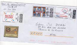 France;Covid 19,coronavirus,lettre Envoyée. A Voir - Poststempel (Briefe)