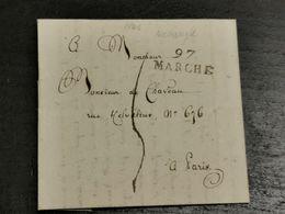 Lettre, Navaugle Rochefort Envoyé à Paris 1806 - 1794-1814 (Période Française)