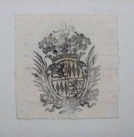 Ex-libris Héraldique Illustré XVIIIème - BELGIQUE - J. ALEX DE FROMANTAU - Ex Libris