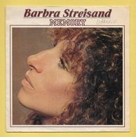 Disque Vinyle 45 Tours : BARBARA STREISAND  :  MEMORY..Scan B : Voir 2 Scans - Vinylplaten