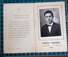Necrologio Luttino - BOSETTI GIACOMO (nascita 1942 Morte 1961 ) - Obituary Notices