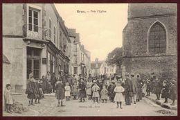 BROU  Carte Rue Très Animée église * Eure-et-Loir 28160 * Enfants * Brou Arrondissement De Châteaudun - Autres Communes