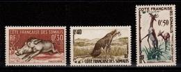 Cote Des Somalis YV 287 à 289 Faune N** MNH Cote 3,20 Euros - Côte Française Des Somalis (1894-1967)