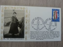 PHILIPPE DE HAUTECLOCQUE (1902-1947) Inauguration Du Monument - Gruge-l'Hopital - Année 1985 - - Oblitérés
