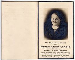 Doodsprentje VROUW FEMME Celina CLAEYS °1879 RUYSELEDE RUISLEDE +1945 MEULEBEKE // DOBBELS - Andachtsbilder