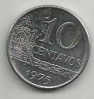 Brazil 10 Centavos 1975. - Brasilien
