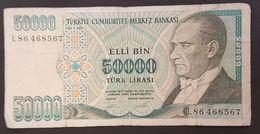 RS - Turkey 50000 Lira Banknote #L86 468567 - Turchia