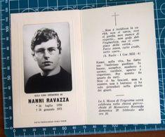 Necrologio Luttino - NANNI RAVAZZA (nascita 1950 Morte 1971 ) Monastero Bormida Asti - Décès