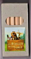 LES REBELLES DE LA FORET - CINEMA, DESSIN ANIME - Boite De 6 Crayons De Couleur TBon Etat (voir Scan) - Autres Collections